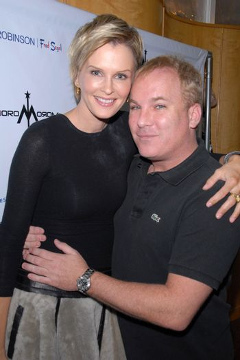 Kylie Bax and David Pinsky at the launch of Kylie Bax and Spiros Poros' Moro Moro Kids Boot Collection at Ron Robinson Lifesize, Fred Segal, Santa Monica, CA. 12-11-10/ImageCollect