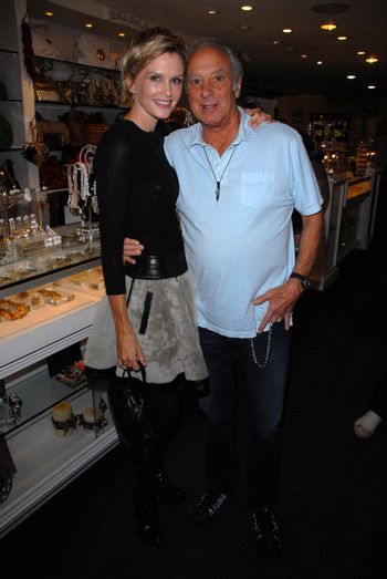 Kylie Bax and Neal Cohen at the launch of Kylie Bax and Spiros Poros' Moro Moro Kids Boot Collection at Ron Robinson Lifesize, Fred Segal, Santa Monica, CA. 12-11-10/ImageCollect