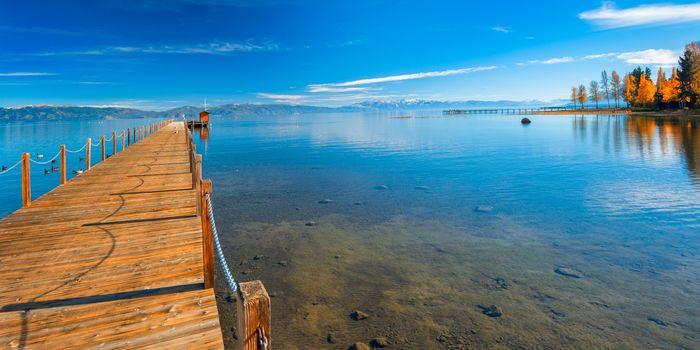 Pier in a lake