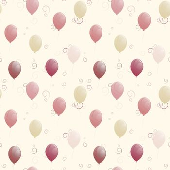 balloons seamless texture. used as fill pattern, backdrop. beige background