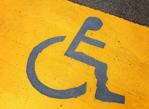 Signage for disable person