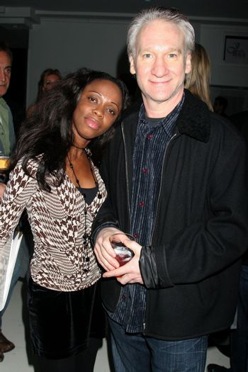 Charmaine Blake and Bill Maher at the Mansion Party Hosted By British Talk Show Host Jacquie Blaze. Private Residence, Beverly Hills, CA. 12-07-07/ImageCollect