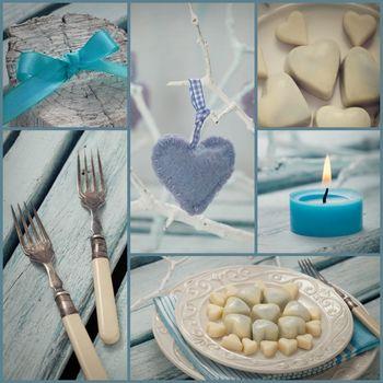 Valentines dinner collage