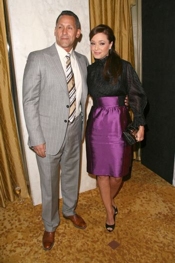 Angelo Pagan and Leah Remini at the Natural Resources Defense Council's 20th Anniversary Celebration. Beverly Wilshire Hotel, Beverly Hills, CA. 04-25-09/ImageCollect