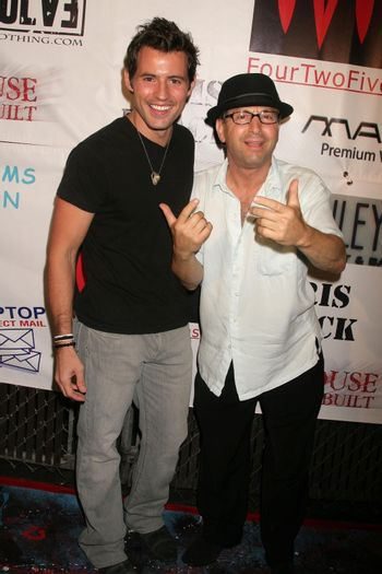 Kris Black and Johnny V at the Opening of 'The Abstract Art of Kris Black' benefitting Survivors of Sexual Abuse. Stanley's Restaurant and Bar, Sherman Oaks, CA. 05-21-09/ImageCollect