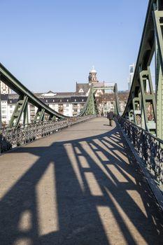 Eiserner steg at river Main and River Main