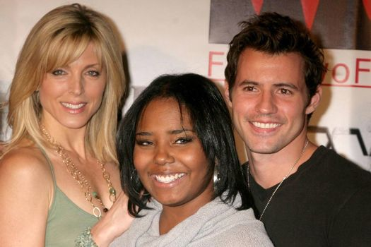 Shar Jackson with Marla Maples and Kris Black at the Opening of 'The Abstract Art of Kris Black' benefitting Survivors of Sexual Abuse. Stanley's Restaurant and Bar, Sherman Oaks, CA. 05-21-09/ImageCollect