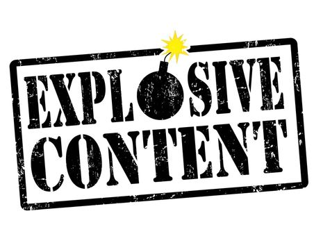 Explosive content stamp