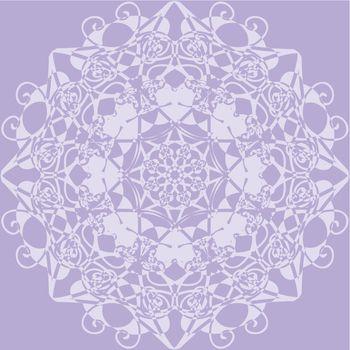 kaleidoscope rosette. lilac color.