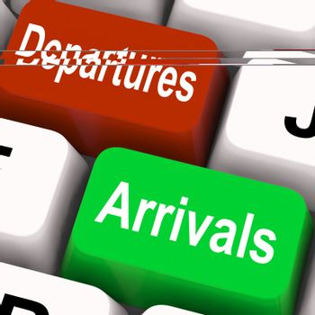 Departures Arrivals Keys Meaning Travel And Vacation