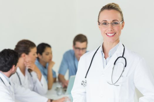 Happy professional doctor