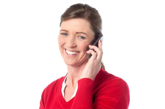 Woman speaking over cellphone