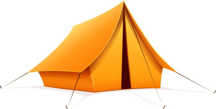 Touristic camping tent
