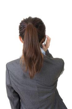 talk on phone, rear view