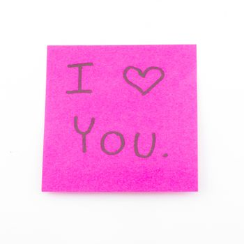 I love you on post it