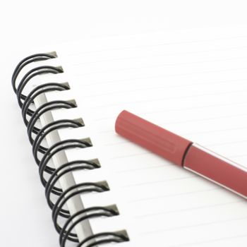red pen isolated on white