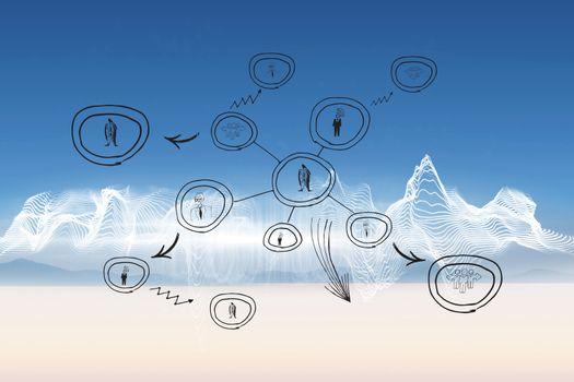 Composite image of community link doodle