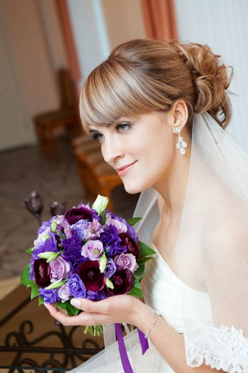 young bride with flower