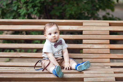 child on the bench
