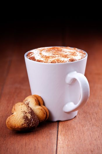 Cappuccino And Heart Cookies