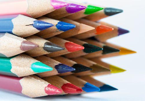 pointed color pencils