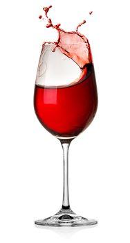 Splash wine isolated