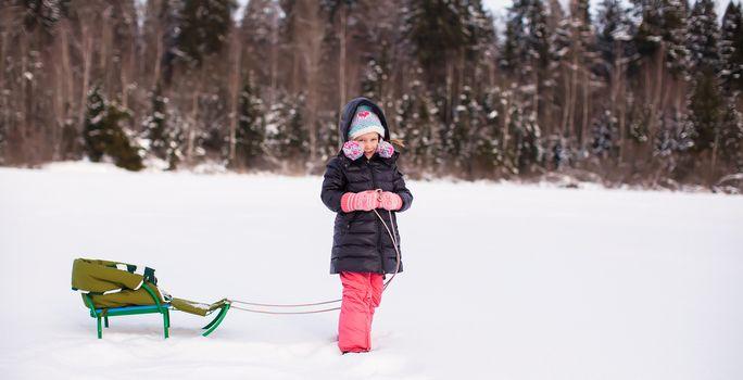 Winter fun in childhood