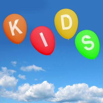 Kids Balloons Show Children Toddlers or Youngsters