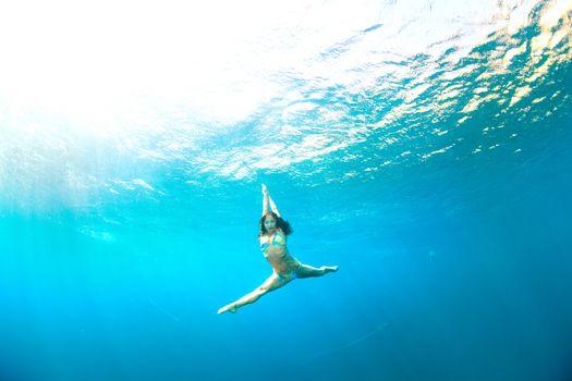 underwater jumping