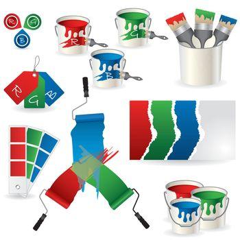 RGB coloring set