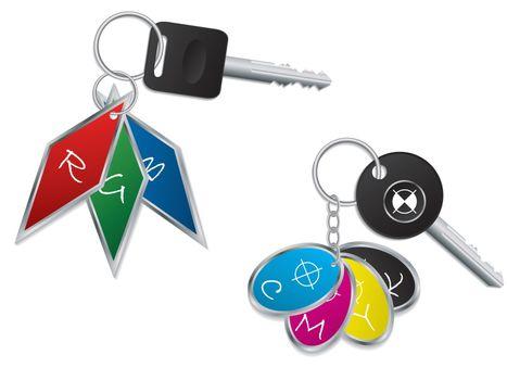 RGB and CMYK keyholders