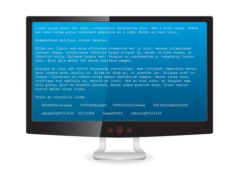 Black tft monitor with error message