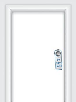 Label with message on door knob