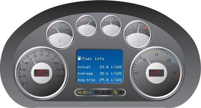 Dashboard of a truck