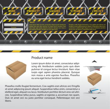 Hazard website template design