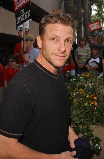 Doug Savant at the Writers Guild of America Picket Line in front of NBC Studios. Burbank, CA. 11-16-07/ImageCollect