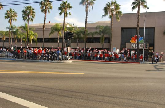 Atmosphere at the Writers Guild of America Picket Line in front of NBC Studios. Burbank, CA. 11-16-07/ImageCollect