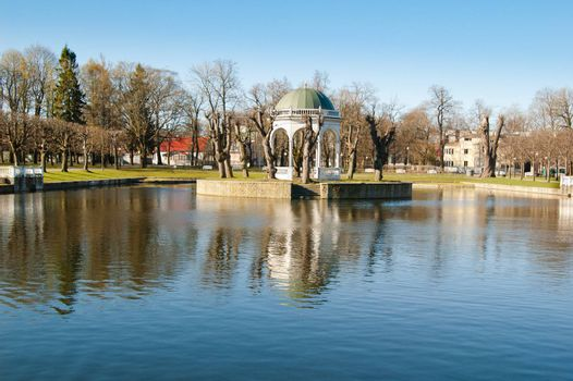Pond in park Kadriorg, Tallinn