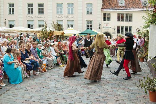 TALLINN, ESTONIA - JULY 8: Celebrating of Days  the Middle Ages in Old Tallinn. July 8, 2012 in Tallinn, Estonia.