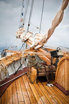 yachting. Taken at a shipyard.