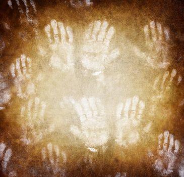Imprint of human hands