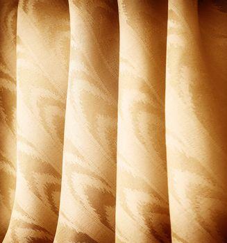 Beautiful golden curtains