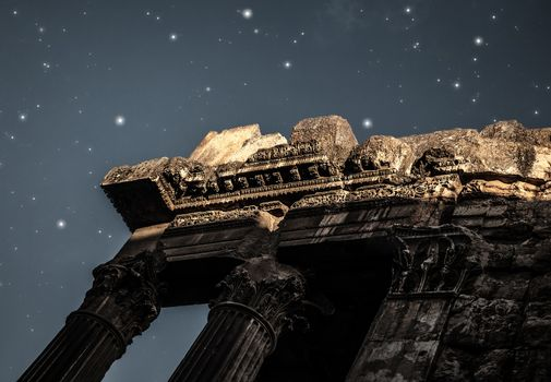 Heliopolis castle in the night
