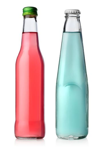 Two bottles of cocktail