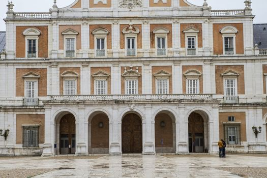 Historical.Palace of Aranjuez, Madrid, Spain, is one of the resi