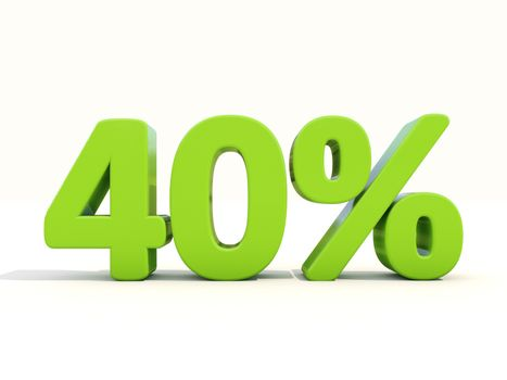 40% percentage rate icon on a white background