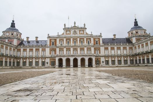 King.Palace of Aranjuez, Madrid, Spain, is one of the residences