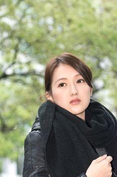 Elegant Asian woman of sadness