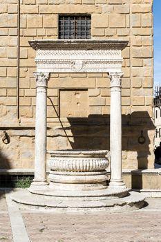 Historic fountain in Pienza