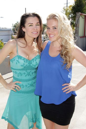 """Alicia Arden, Amber Mead at the TradioV Launch of """"Politically Naughty with Mary Carey,"""" TradioV Studios, Los Angeles, CA 06-03-13/ImageCollect"""